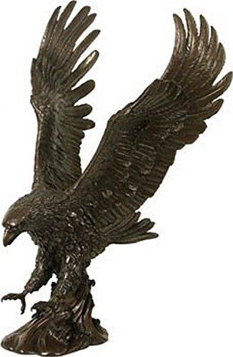 XL Skulptur Adler Kunststein bronziert In-& Outdoor