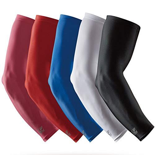 LP SUPPORT SL51 Performance Armstulpen, Arm-Sleeve, Ellenbogen-Schoner, Unterarm-Bandage, Power-Shooter, Sportstulpe, Größe:M, Farbe:1 x schwarz