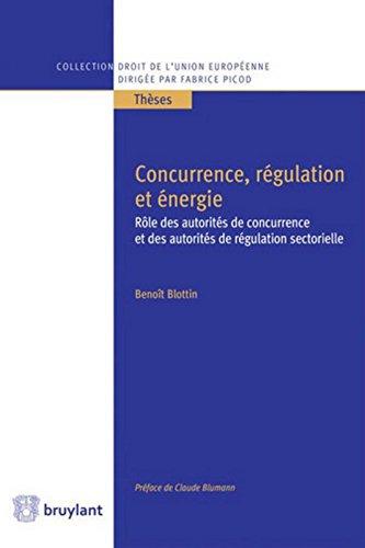 Concurrence, régulation et énergie : Rôle des autorités de concurrence et des autorités de régulation sectorielle par From Emile Bruylant