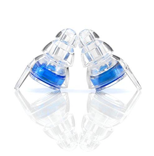 Senner MusicPro Gehörschutz Ohrstöpsel mit Alubehälter. Ideal für Musik, Konzert, Disco und Festival, clear/transparent - 7