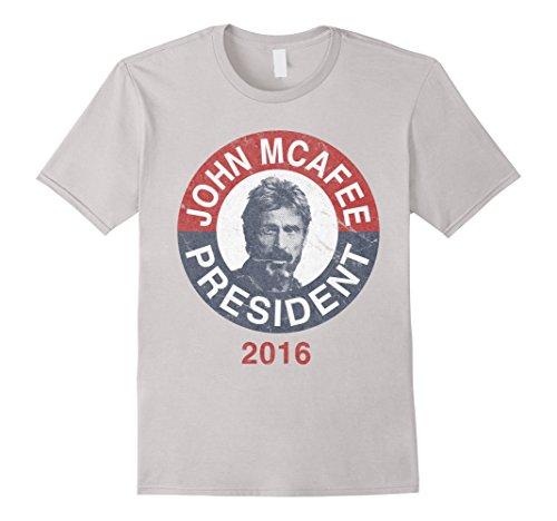 vintage-john-mcafee-for-president-2016-t-shirt-herren-grosse-m-silber
