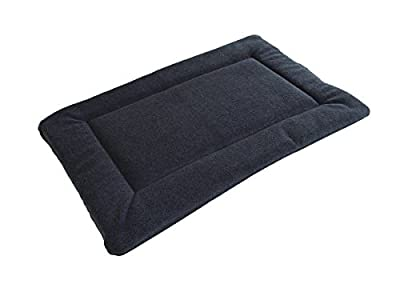 PnH® Grey Polar Fleece Quilted Dog Pad, Cage/Crate Mat - Large - 76cm x 122cm