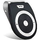 Aigoss Vivavoce Bluetooth 4.1 da Auto con Controllo Vocale, Car Bluetooth per Speakerphone, Kit Vivavoce Bluetooth per Smartphone - Nero