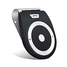 Smake Vivavoce Bluetooth 4.1 da Auto con Controllo Vocale, Car Bluetooth per Speakerphone, Kit Vivavoce Bluetooth per…
