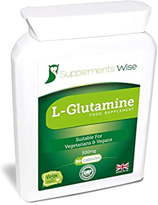 L-Glutamine Capsules | 90 x 500mg | High Strength Amino Acid | Muscle Strength Supplement | Encourages Digestive Health | Relief From Sugar And Alcohol Cravings by Supplements Wise