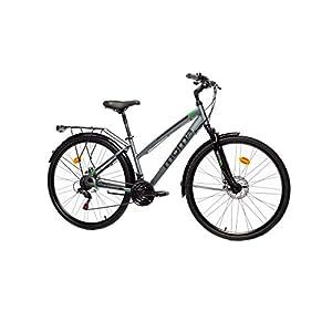 410w6NMJZvL. SS300 Moma Bikes w, Bicicletta Trekking PRO Unisex – Adulto, Grigio, Unica