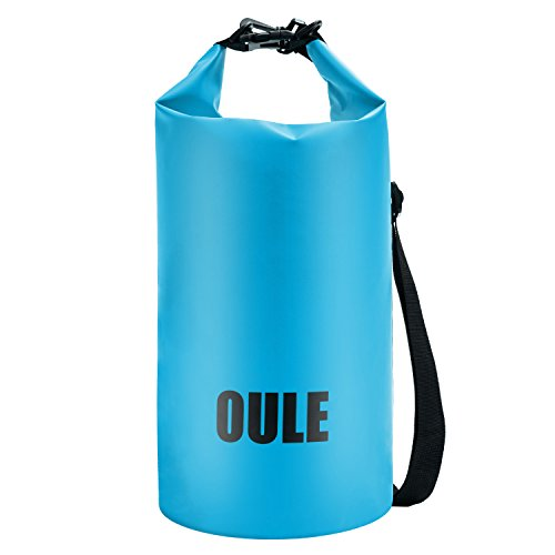 Oule Packsack Drybag Wasserdichte Tasche aus Strapazierfähige LKW-Plane ca. 16 Liter in BLAU
