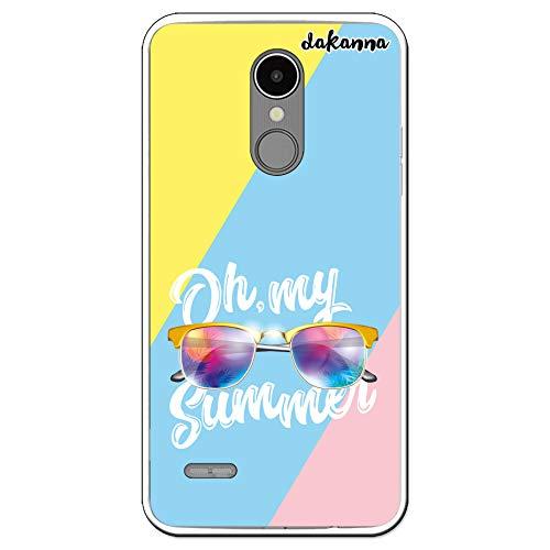 dakanna Case Hülle für LG K9   Sommer Sonnenbrillen   Transparent Silikon TPU Schutzhülle