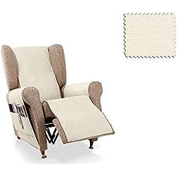 JM Textil Cubre sillón Relax Biggie Tamaño 1 Plaza (55 Cm.), Color 01
