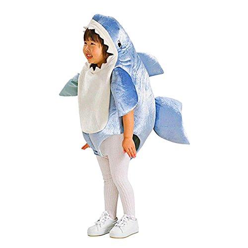 Kostüm Kleiner Hai Junge - LPATTERN Cosplay Kinder Bühne Leistung Kleidung Spiel Kostüm, Kleiner Hai, M(Fabrikgröße: L