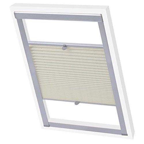 Binzhoueushopping p08/408 - tenda plissettata, moderna, facile da montare, con finestra plissettata
