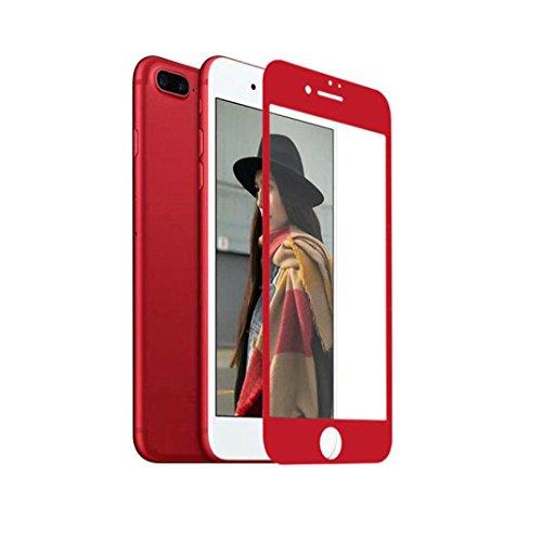 Cover per iPhone 7, Tpulling Custodia per iPhone 7 Case Cover Copertura della pelle della protezione della pellicola dello schermo della membrana temperata del vetro per il iphone 7 4.7 pollici (Red) Red