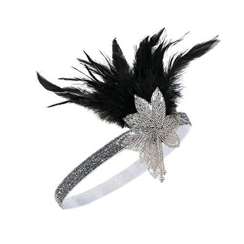 arleston Stirnband Haar Zubehör 20 s Flapper Stirnband Kopfschmuck (Beste Weibliche Halloween-kostüme)