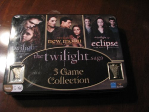 Twilight Saga 3 Game Collection in Collector Tin - Twilight, New Moon, & Eclipse by Cardinal