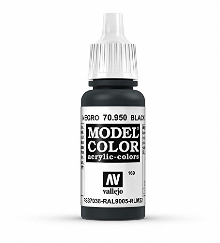 Farbe-schwarz-französisch (Vallejo (Modell Color 17ml Farbe–parent mattes schwarz)