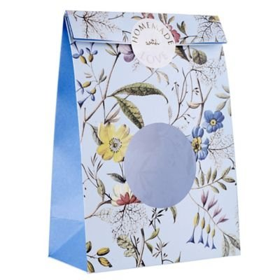 va-flowers-lace-treat-paper-gift-bag-with-window-stickers-x-8