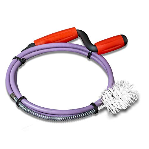 Nirox Rohrreinigungsspirale 8mm x 1,4m - Rohrspirale mit fester Kunststoff-Bürste - Rohrreinigungswelle mit Gummimantel - Werkzeug für Abfluss & Siphon - Rostfrei