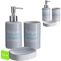 Accesorios de baño original con mensaje de cerámica para cuarto de baño Factory (Blanco)