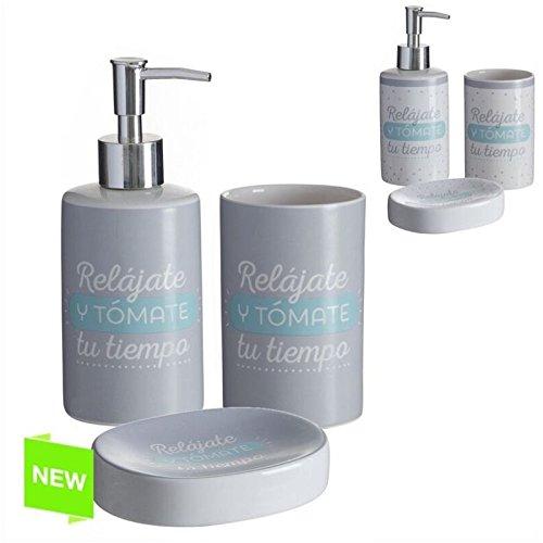 Accesorios de baño original con mensaje de cerámica para cuarto de baño...