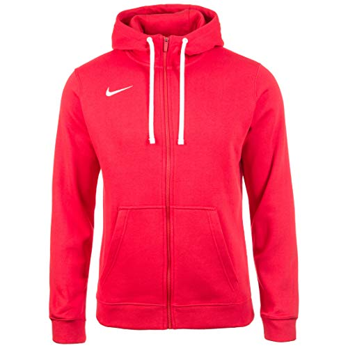 Nike Herren Team Club 19 Full-Zip Hoodie Kapuzenjacke, University red/White, 3XL Full Zip Terry Hoodie