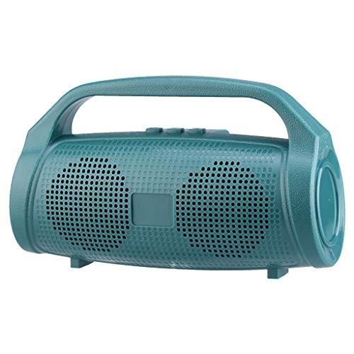 ToDIDAF Q23 Tragbarer Drahtloser Bluetooth-Lautsprecher, Mini-Musik-Player, FM-Radio + USB-Funktion, Schnelles Laden und Langer Standby-Modus - Schwarz/Rot/Blau/Grün (Grün)
