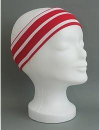 Stirnband rot - weiss gestreift verschiedene Größen von Modas