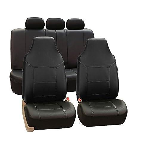 FH GROUP FH-PU103115 Autositzbezüge,hohe Rückenlehne, Kunstleder, geteilte Rückseite, Airbag-kompatibel