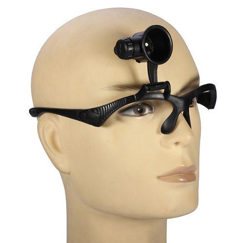 SODIAL(R) 10X 15X 20X 25X Reparacion de relojes Gafas Anteojos Amplificador Lupa con LED (Amplificador de ojo Single)
