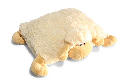 Preisvergleich Produktbild 2 in 1 Kuschelkissen und Kuscheltier Schaf, Schafkissen, Kissen Schaf, Kuschelschaf mit Klettverschluss 30cm
