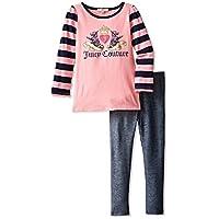 NWT-JUICY COUTURE-set da 2, colore rosa, tunica, vestito, leggings-top per
