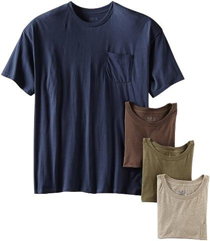 Fruit of the Loom Men's Pocket Crew Neck T-Shirt (Pack