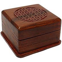 Caja mágica de Madera, Magic Box 10 x 10 x 6,5 cm, Caja secret