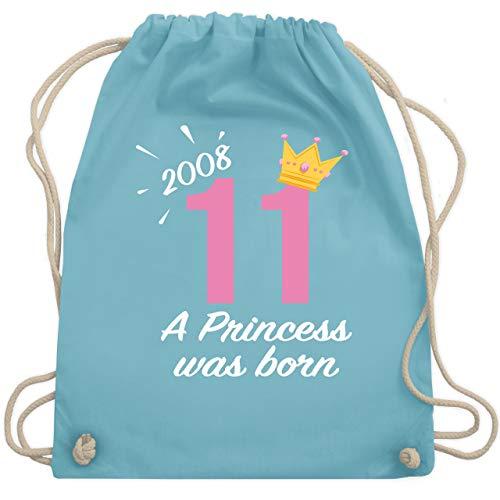 Geburtstag Kind - 11 Geburtstag Mädchen Princess 2008 - Unisize - Hellblau - WM110 - Turnbeutel & Gym Bag (Ein Mädchen Elf)