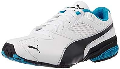Puma Men's Tazon6DP White, Black and Atomic Blue Running Shoes - 6 UK/India (39 EU)