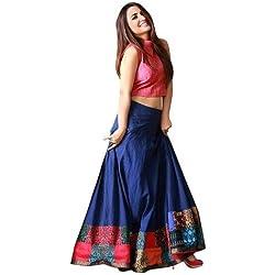 lehenga choli by gk trendz new designer printed blue banglorie lahenga choli