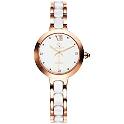 Fashionable quartz Bangle watch/Waterproof ceramic watch/Simple casual watches-A
