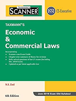 PDF Descargar Scanner-Economic & Commercial Laws (CS-Executive) (June 2019 Exam-Old syllabus) (6th Edition January 2019)