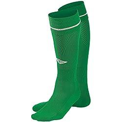 Umbro calcetines de fútbol azul rodillera–esmeralda verde/blanco (grande)