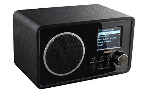 MEDION LIFE E85052 (MD 87267) Wireless LAN Internet-Radio, DLNA, UPnP, WLAN, MP3, WMA, schwarz