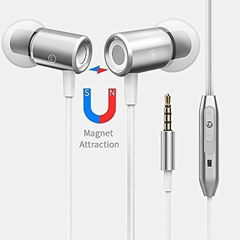 Écouteurs Magnétiques Intra-auriculaires avec Microphone pour Apple iphone 5 5s