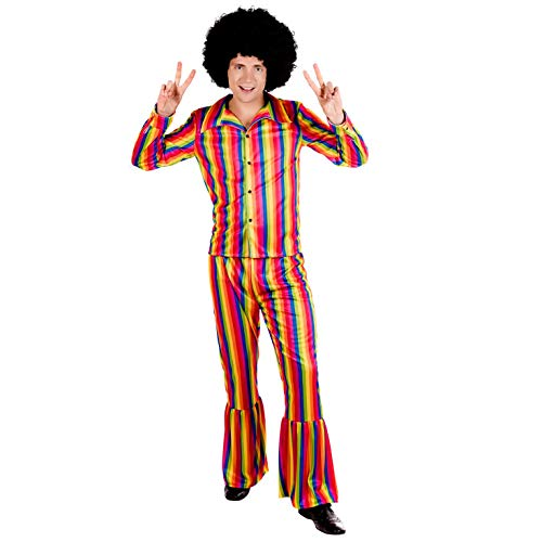 Fun Shack Herren Costume Kostüm, Rainbow Suit, ()