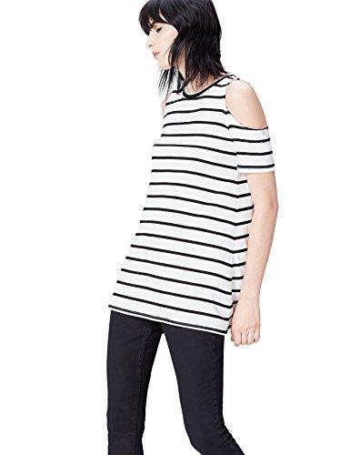 find. ER1734 camisetas mujer fiesta,, Negro (Black/white), 38 (Talla del...