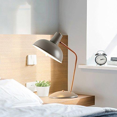 Schlafzimmer Nachttischlampe Schreibtisch lesen Lernen LED Schreibtischlampe (Color : Gray) ()