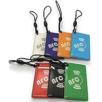 7 X NFC Tags   NXP Chip NTAG213   memoria de 144 bytes   colores mezclados   colgar oblongo   alta potencia de escaneo   Impermeable   Diseño elegante