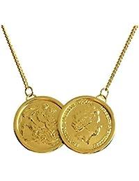 Boolavard Celebrity Lucky–Collier Femme–Pendentif Double et or & argent + Boîte à bijoux