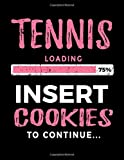 Tennis Loading 75% Insert Cookies To Continue: Blank Sketch, Draw and Doodle Books - Dartan Creations, Tara Hayward