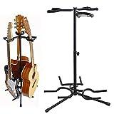 Sailnovo Gitarrenständer 3-fach Faltbarer Gitarren Ständer Metall Stativ Guitar Stand für Konzertgitarre,Westerngitarre,Akustikgitarre