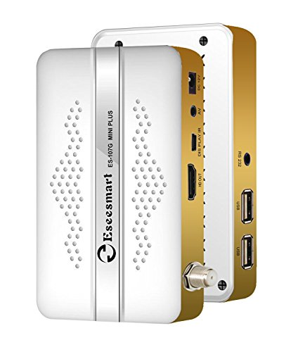 Eseesmart Mini Digital Satellite Receiver HD Digitale Multistream-Sat-ontvanger WLAN (HDTV, DVB-S2X, HDMI, 2X USB 2.0, 1080p, Youtube, PVR-opnamefunctie)