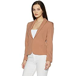 VERO MODA Women's Blazer (10189576_Cafe Au Lait_Medium)