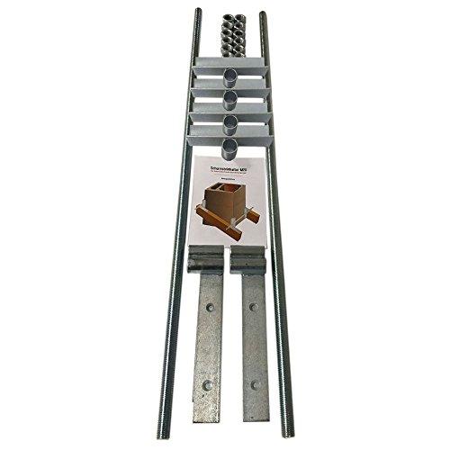 PremiumX M20 Schornsteinhalter Sparrenhalter für Kamin Schornstein Kaminbefestigung Bausatz massiv Kaminhalter Kaminsparrenhalter